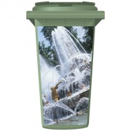 Water Fountain Wheelie Bin Sticker Panel