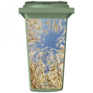 Wheat In A Field Wheelie Bin Sticker Panel