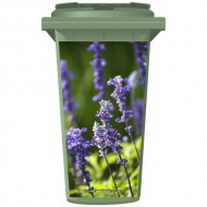 Wild Purple Flowers Wheelie Bin Sticker Panel