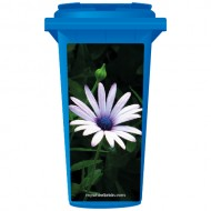 Wild Single Purple Flower Wheelie Bin Sticker Panel