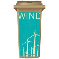 Wind Power Save The Planet Wheelie Bin Sticker Panel