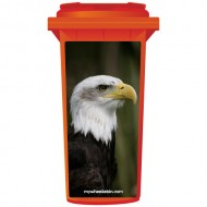 Yellow Beaked Eagle Wheelie Bin Sticker Panel