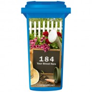 Your House Number Or Name & Street Name On A Chalkboard In The Garden Wheelie Bin Sticker Panel