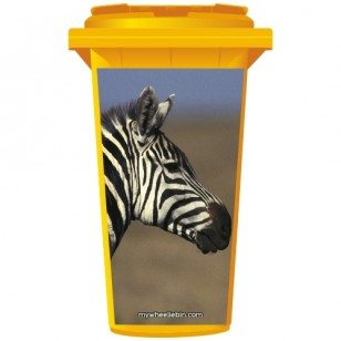 Zebra Wheelie Bin Sticker Panel